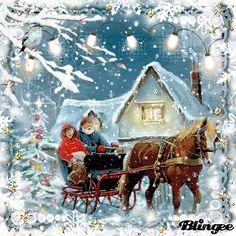 Vintage Vintage Winter, Vintage Christmas, Vintage Pictures, Photo Editor, Vintage Art, Stamp, Animation, Deco, Awesome
