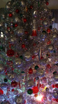 My 1960 Aluminum Christmas tree brought back! I love it!