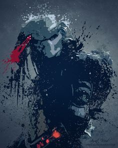 Predator Movie Splatter - Stewart Wood