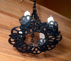 Medieval Candles Chandelier Dollhouse Miniature by CalicoJewels