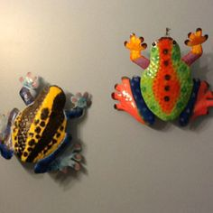They are yard frogs , but I have them in kids bathroom to brighton up the room