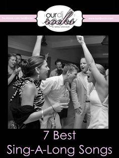 Wedding Songs, Wedding Reception Songs, Sing a long songs, party songs, wedding song suggestions by www.ourdjrocks.com. Orlando Wedding DJ, Lighting and Photobooth company
