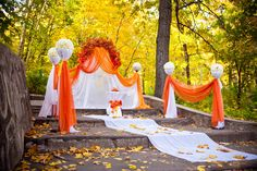 """$13.79 Factory Price Material: 100% Nylon Material Width of Fabric: 54"""" Wide (Approx:) Length of Fabric: 40 Yards (Approx:) Color: Orange Qty: 1 Bolt/Order Edges: Not Finished. The #1 versatile material for weddings, showers and other special occasions. Tulle can be used for headpieces, draping, backdrops, decorating tables, arches and much, much more. Porch Curtains, Voile Curtains, Panel Curtains, Fall Wedding Decorations, Craft Wedding, Table Decorations, Decorating Tables, Flame Test, Symmetrical Balance"""