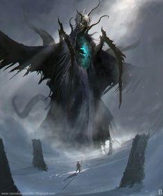 Cthulhu by Ramses Melendez on ArtStation. Dark Fantasy Art, Fantasy Rpg, Dark Art, Monster Design, Monster Art, Fantasy Creatures, Mythical Creatures, Dragon Age Rpg, Ramses