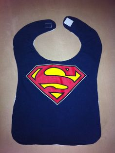 Upcycled TShirt Bib  Superman by MnStyle on Etsy, $10.00