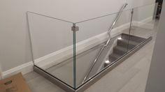 Glass Railing, Railings, New Homes, Bathtub, Bathroom, Lighting, House, Home Decor, Staircases