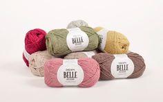 Drops Belle - Lækkert kvalitetsgarn, som er spundet af en blanding af bomuld, viscose og høre. Se hele udvalget her: http://hobbii.dk/collections/drops-belle