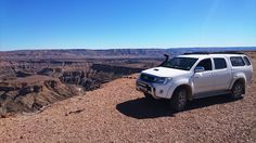 Pieter Jooste's 2009 Toyota Hilux D4D overlooking Fish River Canyon in Namibia. Get hold of the July issue of SA4x4 Magazine for more info.