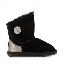 Emu černé dívčí válenky Denman Kids Black/Noir - 2200 Kč Bearpaw Boots, Ugg Boots, Emu, Uggs, Shoes, Black, Fashion, Moda, Zapatos