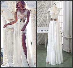Formal blanco chifon mujer Vestido fiesta Vestido De Festa nuevo moda Sexy…