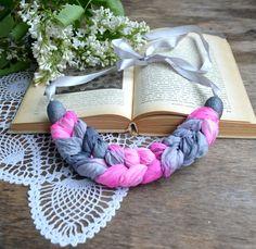 necklace natural silk batik  Spit  . OOAK . necklace by batikelena