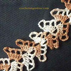 Herringbone crochet stitches