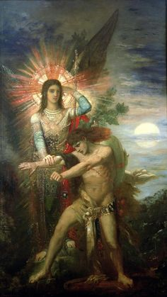 Jacob and the Angel, Gustave Moreau, before 1878