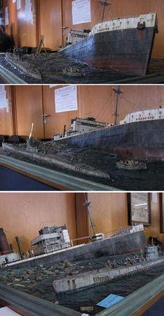 Ship Model Diorama.
