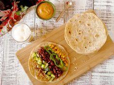Tacos à la courgette, au maïs et aux haricots rouges