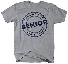 Shirts By Sarah Men's 2015 Senior Class T-Shirt Circle Badge Personalized Shirts Senior Sweatshirts, Personalized Shirts, Badge, Graduation, Mens Tops, T Shirt, Sport, Unisex, Gray