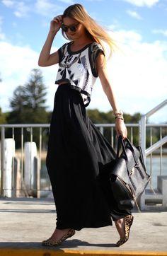 LoLoBu - Women look, Fashion and Style Ideas and Inspiration, Dress and Skirt Look Fashion Mode, Look Fashion, Fashion Beauty, Womens Fashion, Fashion Trends, Fashion Black, Street Fashion, Leopard Fashion, Vogue Fashion