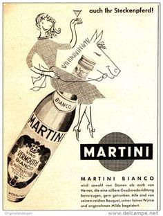 Original-Werbung/ Anzeige 1958 - MARTINI BIANCO - ca. 130 x 160 mm