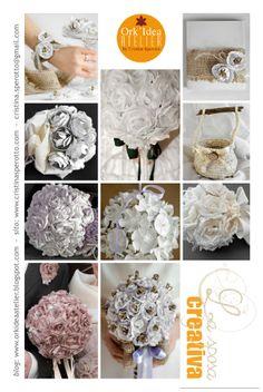 ECO-CREAZIONI PER LA SPOSA IN PLASTICA, CARTA, STOFFA, ALLUMINIO / Bridal aluminium, fabric, paper and plastic eco-creations. Link: http://orkideaatelier.blogspot.it/2013/03/abito-da-sposa-con-riciclo-di-tessuti-e.html