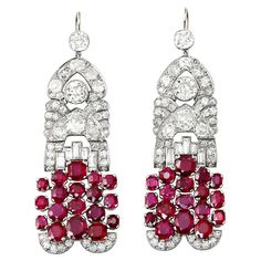 1920s art deco natural pearl diamond chandelier platinum earrings art deco french burma no heat pigeon blood ruby diamond earrings circa 1920s mozeypictures Image collections