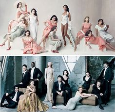Vanity Fair Inspired Wedding Party Photo
