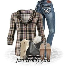 Cowboy checked shirts with denims | Just Trendy Girls