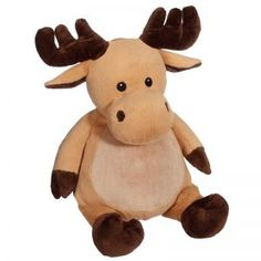 Let out a moose call for majestic Mikey! His flat pile belly will make any design easy to embroider. Dimensions: 16 inches Self contained stuffing pods for the Embroidery Blanks, Embroidery Software, Custom Embroidery, Machine Embroidery Designs, Boutique, Plushies, Moose, Baby Gifts, Custom Design