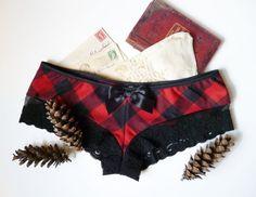 Lumberjack flannel & lace panties?! YES please!!