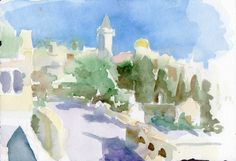 Beit Jala Old City 2014 watercolour on paper 26 x 18 cm Old City, Pretty Pictures, Places Ive Been, Watercolour, Paper, Painting, Art, Palestine, Cute Pics