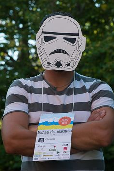 Stormtrooper med badge. #sswc