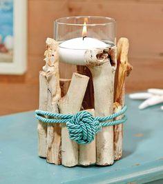 Driftwood Floating Candle Holder