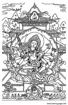 Print Adult Shiva Coloring Pages