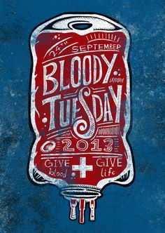 Promotional poster for the school's blood donation drive in September 2013!
