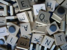 If I can ever find an old scrabble board at a yard sale or thrift store...