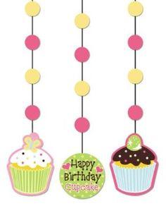 Cupcake Theme Birthday Party Ideas Happy Birthday Cupcakes, First Birthday Parties, Birthday Party Themes, Girl Birthday, First Birthdays, Birthday Ideas, 10th Birthday, Cupcake Decorating Party, Party Set