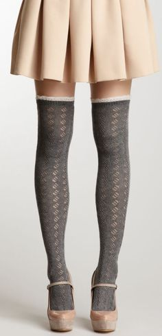 #pretty HauteLook | Grey Hues: Angie Lace Trim Boot Sock