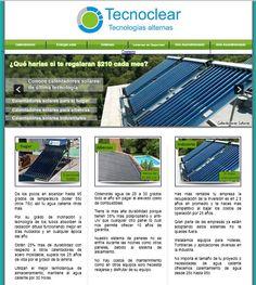 Sitio Web para empresa de calentadores solares - www.tecnoclear.com
