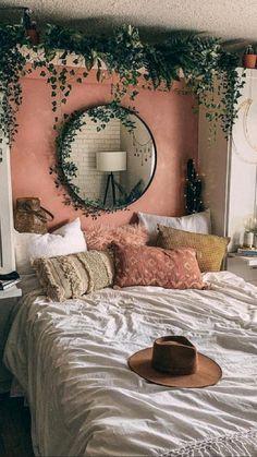 Boho Chic Bedroom, Boho Chic Interior, Trendy Bedroom, Aesthetic Room Decor, Minimalist Bedroom, Minimalist Living, Modern Living, Dream Rooms, My New Room