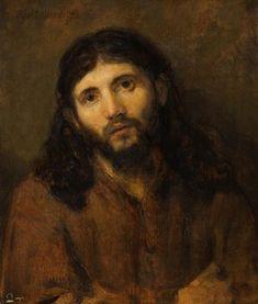 Tête du Christ, par Rembrandt van Rijn