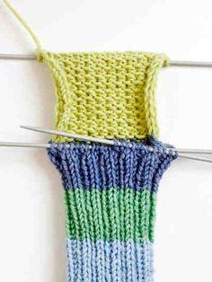 Villasukan vahvistettu kantalappu Knitting Stitches, Knitting Socks, Drops Design, Handicraft, Fingerless Gloves, Arm Warmers, Lana, Crochet Top, Upcycle