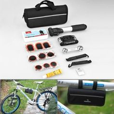 Compact Design 16 in 1 Multi Function Purpose Bike Bicycle Cycling Tyre Repair Tool Kits Complete Set + Mini Portable Pump - Amazon.com