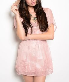 Love this Pink Semisheer Smocked Dress by Shop the Trends on #zulily! #zulilyfinds