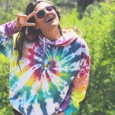 Ivory Ella Rainbow Hoodie | Ivory Ella Tie Dye Rainbow Hoodie | Tie Dye Sweatshirt | P Oversized Sweatshirt