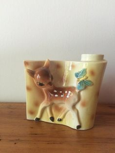 Bambi Vintage Deer mur planteur de poche par Shafford