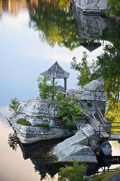 Mohonk Mountain House - one of the many serene Gazebos located on the property.