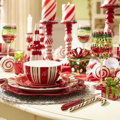 #Christmas Stripes Dinner Plate pier1