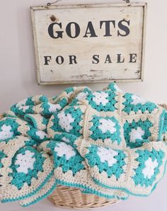 Handmade Granny Patch Crochet Afghan Block Square by CafeChaCha