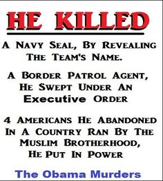 HORRIFIC RECORD!!!  OBAMA'S BLOOD STAINED HANDS.