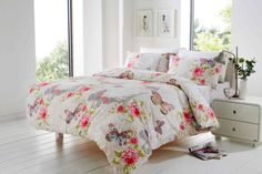 Free Off Twin Full Queen King size lovely flower floral pink bedding cotton printed duvet cover,bed lined Damask Bedding, Pink Bedding, White Bedding, Custom Bedding, King Size Bedding Sets, Girls Bedding Sets, Comforter Sets, Best Linen Sheets, Bed Sheets