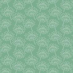 daliaWhiteGreenBack fabric by maredesigns on Spoonflower - custom fabric